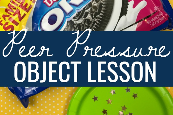 Peer Pressure Object Lesson for Kids