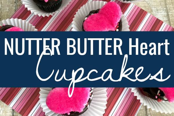 Nutter Butter Heart Cupcakes