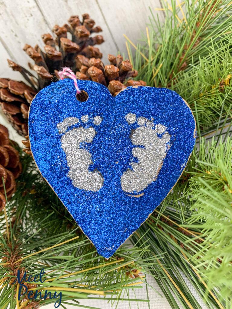 Isaac / Baby footprints - Jesse Tree ornaments