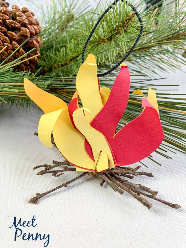 Elijah / Bonfire - Jesse Tree ornaments