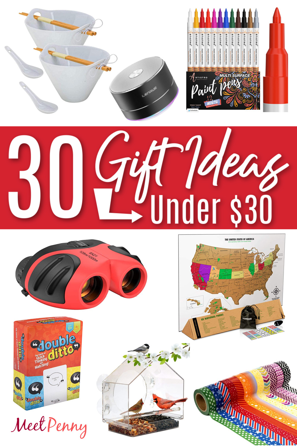 Buy gifts on a budget with this list of gift ideas under $30 for everyone.